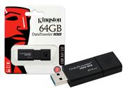 PEN DRIVE USB 3.0 KINGSTON DT100G3/64GB - 25575-6