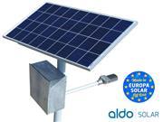 POSTE SOLAR GERADOR ENERGIA AUTONOMO ALDO SOLAR LED - 45097-0