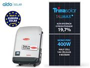 GERADOR DE ENERGIA FRONIUS S/ ESTRUTURA ALDO SOLAR GEF - 52889-8