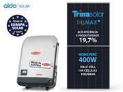 GERADOR DE ENERGIA FRONIUS S/ ESTRUTURA ALDO SOLAR GEF - 52890-5