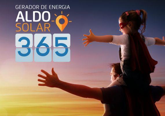 Gerador de Energia ALDO SOLAR 365, independência total, com geração e autossuficiência
