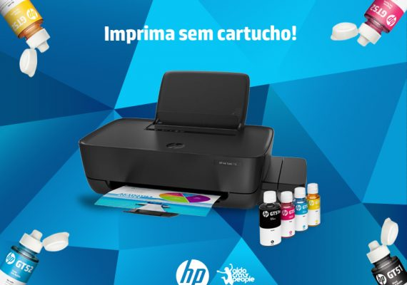 Reinvente o custo por página com as garrafas da Tanque de tinta HP