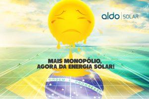 Mais monopólio. Energia solar