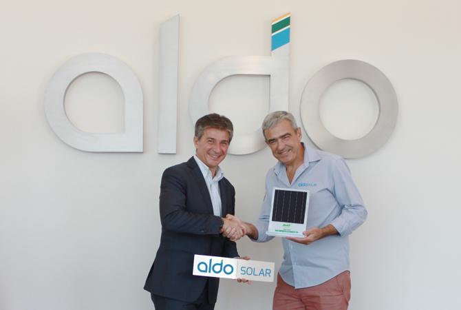 Alberto Cuter , gerente geral para América Latina e Itália e Aldo Pereira Teixeira CEO da Aldo Solar