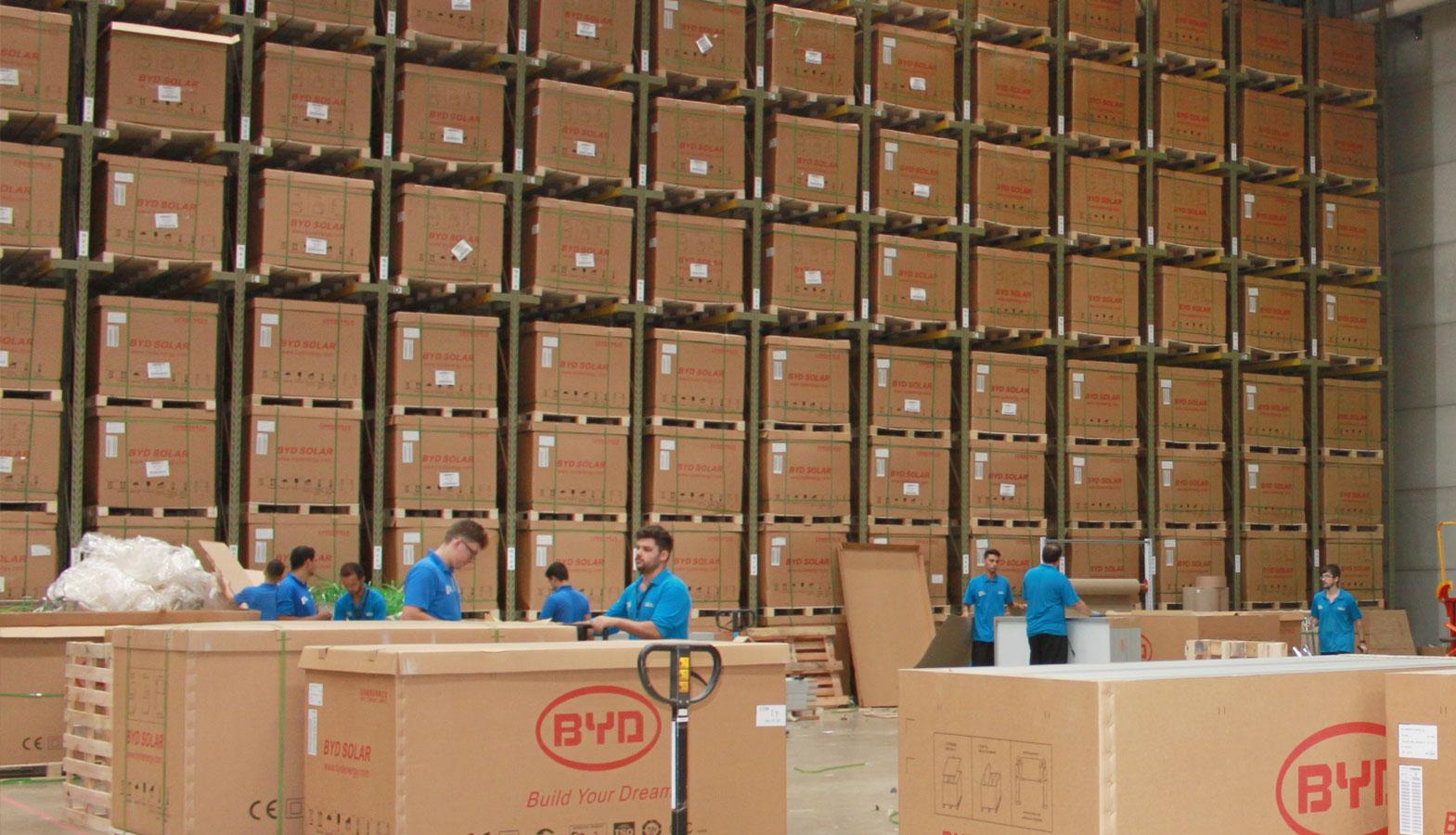 O maior estoque BYD é na Aldo Solar