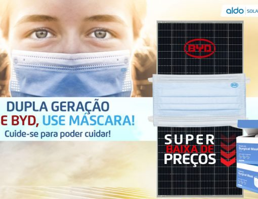 Dupla Geração Use Byd care, use máscara