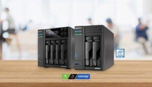 NAS Asustor com cache SSD