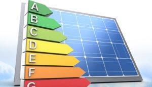 eficiência de um painel solar