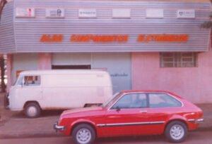 Primeira sede da Aldo e a famosa Kombi