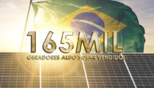 Aldo chegou à marca de 165 mil geradores