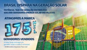 Aldo Solar Atinge a marca de 175 mil geradores vendidos