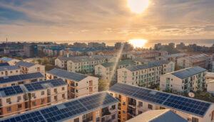 geradores solares em edifícios novos