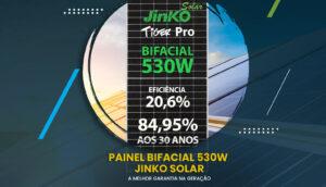 Painel Jinko Solar Bifacial 530w na Aldo