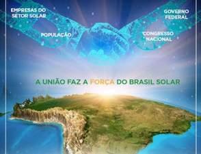 A união faz a força para um Brasil Solar: o sol é de todos nós