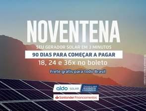 Em tempos de Covid19, ALDO Solar lança campanha com frete grátis e 90 dias para pagar